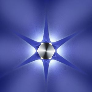 B-Leuchten LED-Aluminium-Wandleuchte rund, 6x 1W LED