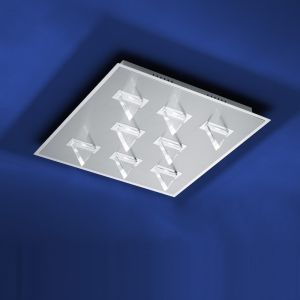 B-Leuchten LED-Deckenleuchte Kristall Chrom