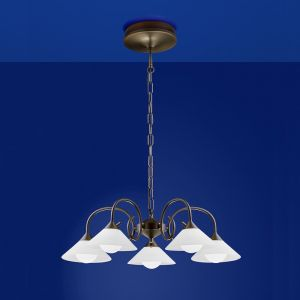 B-Leuchten LED-Krone Bianca in braun