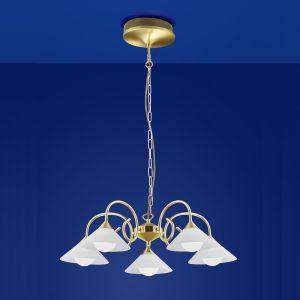 B-Leuchten LED-Krone Bianca Messing matt mit Blank
