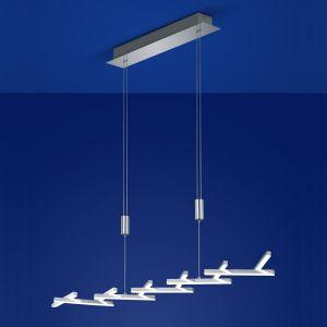 B-Leuchten LED-Pendelleuchte Cross Chrom, Breite 110 cm