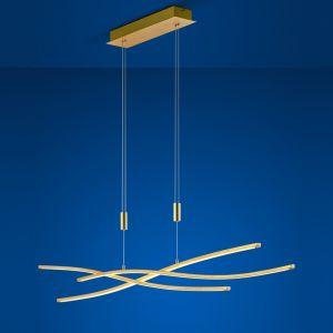 B-Leuchten LED-Pendelleuchte Melide in Blattgold Optik