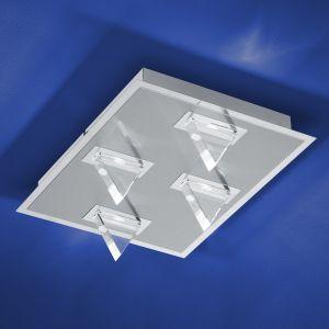 B-Leuchten LED-Wand-/Deckenleuchte Kristall Chrom