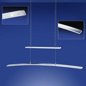B-Leuchten LED-Zugpendelleuchte in Aluminium-mattiert