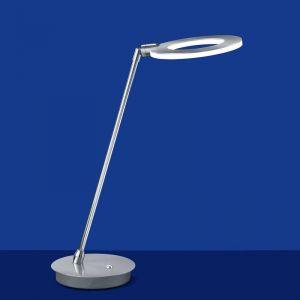 B-Leuchten Moderne LED-Tischleuchte in Nickel-matt