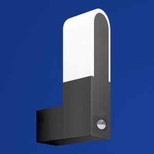 B-Leuchten Sensor-LED-Außenwandleuchte, dunkelgrau