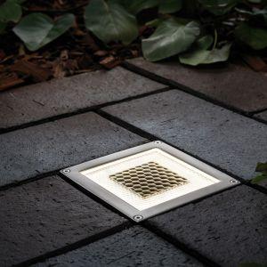 Bodeneinbauleuchte Solar Cube/Box LED, quadratisch