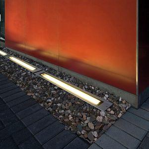 Bodenprofil-Einbauleuchte mit Edelstahlblende, IP67