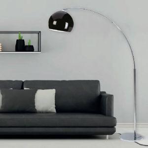 Bogenstehleuchte Chrom in Schwarz oder Weiß