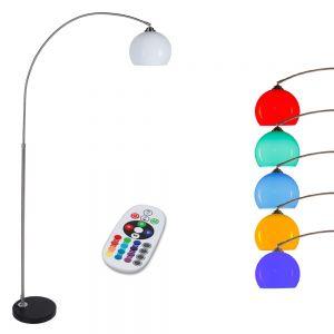 LHG Bogenstehleuchte mit LED RGB Leuchtmittel und Fernbedienung