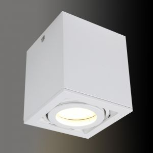 LHG Box-Deckenleuchte in Weiß, 1x GU10 5W