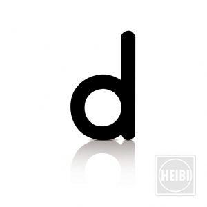 Buchstabe d aus Folie zum Aufkleben, Höhe 10,5cm