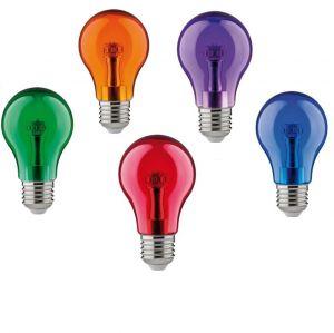 Buntes LED Leuchtmittel  1Watt  E27 A60