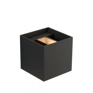 Cube LED Wandleuchte Xio von Lucide in grau grau