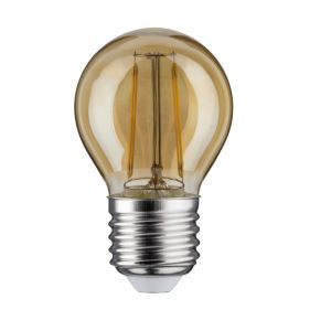 D45 LED Tropfen 2,5 Watt E27 Gold 230 V Warmweiß