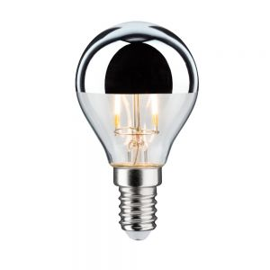D45 LED Tropfen Kopfspiegel  E14 2,5W 2700K - Kopfverspiegelt silber Filament