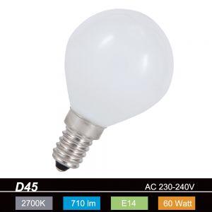 D45 Tropfen 60W opal weiß  E14  stoßfest 1x 60 Watt, 60 Watt, 710,0 Lumen