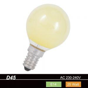 D45 Tropfen 25 W  E14  in Gelb