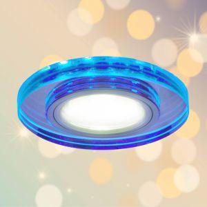 LHG Deckeneinbauleuchte mit blauem LED-Hintergrund