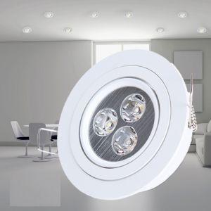 LHG Deckeneinbauleuchte in Weiß, LED 3 x 1W