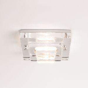 Deckeneinbaustrahler aus Klarglas, GU5,3 50 Watt exkl.
