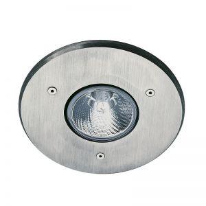 Deckeneinbaustrahler - Aluminiumguss mit Edelstahlblende