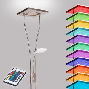 Deckenfluter LED mit RGB Farbwechsel   Stehleuchte inkl. Fernbedienung   Stehlampe + Leselampe   Fluter mit 1x LED-Board  4W 350lm 3000K   Leuchte dimmbar