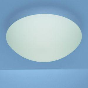 Deckenleuchte in 25cm Durchmesser mit mattem Opalglas und Bajonett-Schnellverschluss