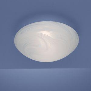 Deckenleuchte in 25cm Durchmesser mit Alabasterglas und Bajonett-Schnellverschluss