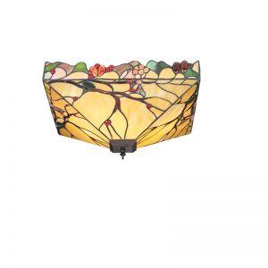 Deckenleuchte Arbois im Tiffany Stil