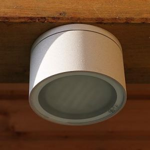 Deckenleuchte aus Aluminium silbergrau inklusive LED
