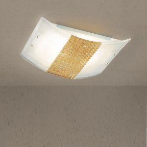 Deckenleuchte aus hochwertigem Glas - Golddekoration - 2 Größen