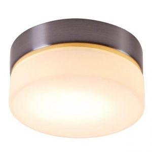 Deckenleuchte aus Opalglas,  Durchmesser 11 cm, 1 x 25 Watt G9