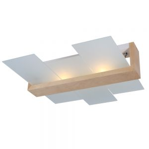 Deckenleuchte Feniks 2 natural wood inkl. 2x 6W LED