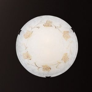 Deckenleuchte mit handdekoriertem Reliefdekor - Durchmesser 40cm 2x 60 Watt, 12,00 cm, 40,00 cm