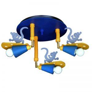 Deckenleuchte mit Mäuseapplikation, verstellbar, 3-flammig