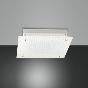 Deckenleuchte Plisset, warmweiß, 35 cm x 35 cm 1x 18 Watt, 35,00 cm, 35,00 cm