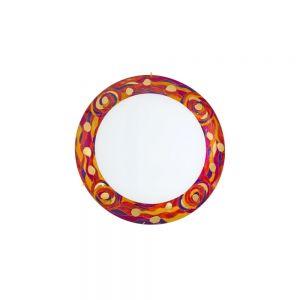 Deckenleuchte Serena, 24 Karat Gold, Dekor Aqua Red, D=30cm