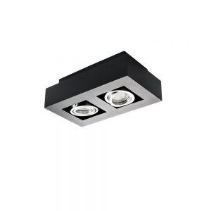 Deckenleuchte Stobi, 2-flammig in schwarz schwarz