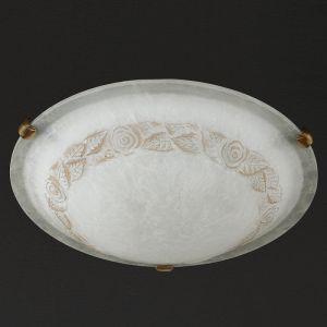 Deckenleuchte, Alabasterglas und Dekor Ø40cm