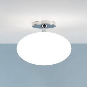 Deckenleuchte, Badezimmerleuchte, Chrom, Opalglas D=30cm, E27 Fassung