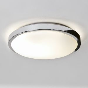 Deckenleuchte, flach, rund D=25cm, Opalglas, E27 LED Lampe einsetzbar