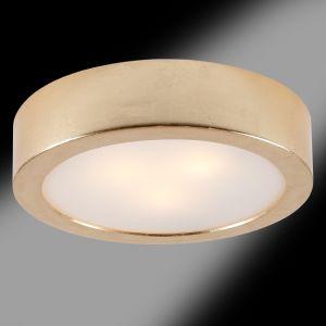 Deckenleuchte, Keramik, Blattgold, rund, D=44cm 3x 60 Watt, 44,00 cm