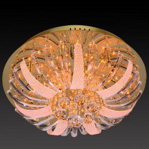 Deckenleuchte, Kristall, D=50cm, Fernbedienung, LED und Halogen