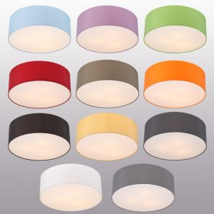 LHG Deckenleuchte, Lampenschirm, Chintz-Stoff, D=62cm, verschiedene Farben