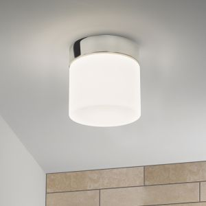 Deckenleuchte, rund, Glas weiß, D=17cm, E27 Fassung LED geeignet