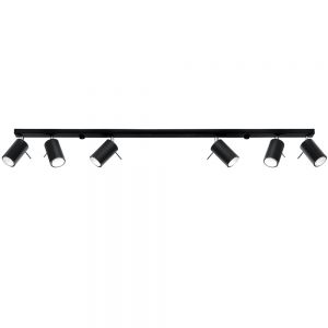 LHG Deckenstrahler Ring 6L in schwarz schwarz