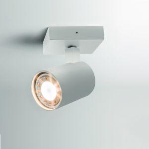 Deckenstrahler, 1-flammig, modern, weiß, schwenkbar, LED geeignet