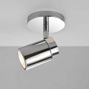 Deckenstrahler, modern, Chrom, 1-flammig, schwenkbar, LED geeignet