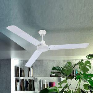 LHG Deckenventilator mit Flügeln aus Eisen in Weiß - inklusive LED-Taschenlampe